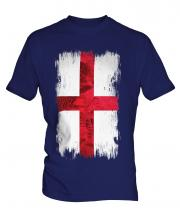 England St George Grunge Flag Mens T-Shirt