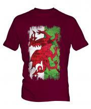 Wales Grunge Flag Mens T-Shirt