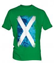 Scotland Grunge Flag Mens T-Shirt