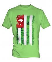 Abkhazia Grunge Flag Mens T-Shirt