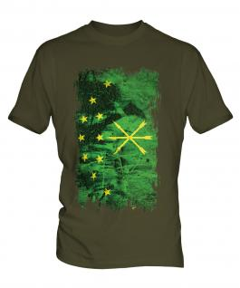 Adygea Grunge Flag Mens T-Shirt