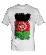 Afghanistan Grunge Flag Mens T-Shirt