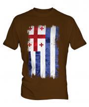 Ajaria Grunge Flag Mens T-Shirt