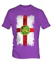 Alderney Grunge Flag Mens T-Shirt