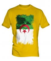 Algeria Grunge Flag Mens T-Shirt