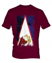 American Samoa Grunge Flag Mens T-Shirt