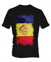 Andorra Grunge Flag Mens T-Shirt