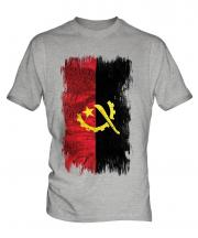 Angola Grunge Flag Mens T-Shirt