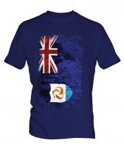 Anguilla Grunge Flag Mens T-Shirt
