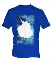 Antartica Grunge Flag Mens T-Shirt