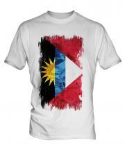 Antigua And Barbuda Grunge Flag Mens T-Shirt