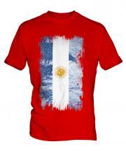 Argentina Grunge Flag Mens T-Shirt