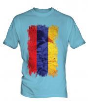 Armenia Grunge Flag Mens T-Shirt