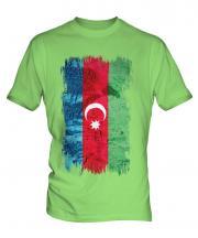 Azerbaijan Grunge Flag Mens T-Shirt