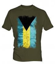Bahamas Grunge Flag Mens T-Shirt