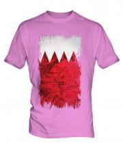 Bahrain Grunge Flag Mens T-Shirt