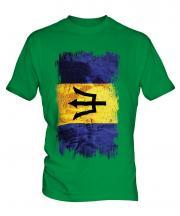 Barbados Grunge Flag Mens T-Shirt