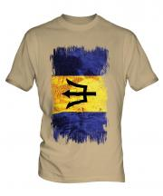 Barbados Grunge Flag Mens T-Shirt