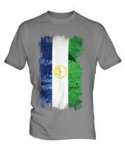 Bashkortostan Grunge Flag Mens T-Shirt