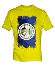 Belize Grunge Flag Mens T-Shirt