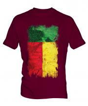Benin Grunge Flag Mens T-Shirt
