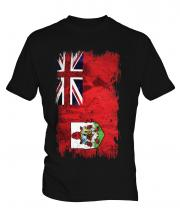 Bermuda Grunge Flag Mens T-Shirt