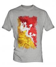 Bhutan Grunge Flag Mens T-Shirt
