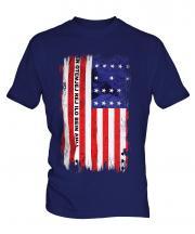 Bikini Atoll Grunge Flag Mens T-Shirt