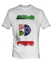 Bosnia And Herzegovina Federation Grunge Flag Mens T-Shirt