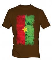 Burkina Faso Grunge Flag Mens T-Shirt