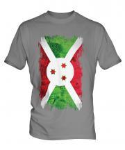 Burundi Grunge Flag Mens T-Shirt