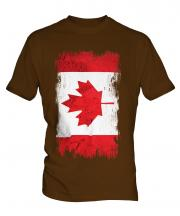 Canada Grunge Flag Mens T-Shirt