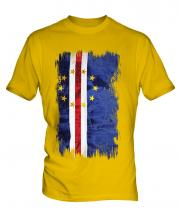 Cape Verde Grunge Flag Mens T-Shirt