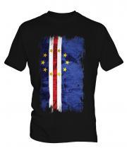 Cape Verde Grunge Flag Mens T-Shirt