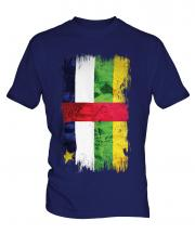 Central African Republic Grunge Flag Mens T-Shirt