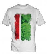 Chechen Republic Grunge Flag Mens T-Shirt