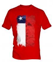 Chile Grunge Flag Mens T-Shirt