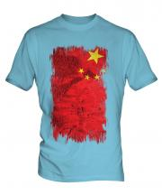 China Grunge Flag Mens T-Shirt