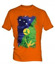 Christmas Island Grunge Flag Mens T-Shirt
