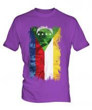 Comoros Grunge Flag Mens T-Shirt