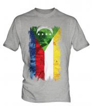 Comoros Grunge Flag Mens T-Shirt