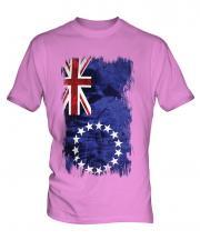 Cook Islands Grunge Flag Mens T-Shirt