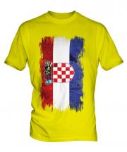 Croatia Grunge Flag Mens T-Shirt