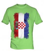 Croatia Grunge Flag Mens T-Shirt