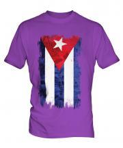 Cuba Grunge Flag Mens T-Shirt