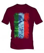 Dagestan Grunge Flag Mens T-Shirt