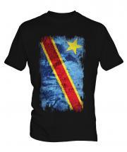 Democratic Rep. Of Congo Grunge Flag Mens T-Shirt