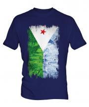 Djibouti Grunge Flag Mens T-Shirt