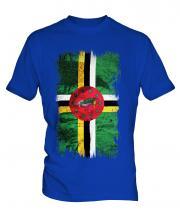 Dominica Grunge Flag Mens T-Shirt