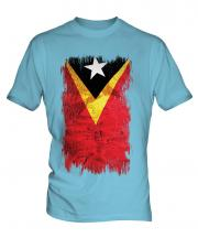 East Timor Grunge Flag Mens T-Shirt